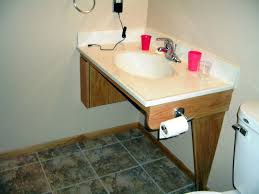 wheelchair accessible vanity image of handicap accessible