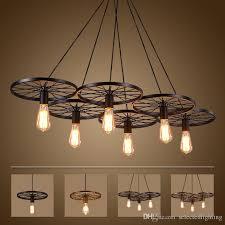 Led Light Fixtures Ceiling Vintage Wheel Ceiling Pendant Lights Modern Light Fixtures Led