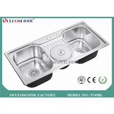 High Quality Kitchen Sinks 9745bl China High Quality Topmount Kitchen Sinks With Dustbin
