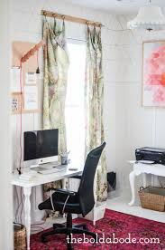 office update with a new white floor and the most gorgeous pink