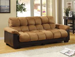 cm6685 pu brantford sofa bed in camel microfiber u0026 leatherette