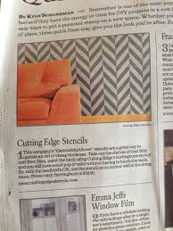 Home Decorators Company by L A Times Touts Cutting Edge Stencils For Diy Decorating