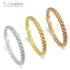 ladies steel bracelet images Yunkingdom stainless steel bracelets bangles for women woven jpg