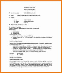 sample investment proposal template business proposal 08 30