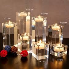 bougeoir mariage 3 pcs ensemble table à manger solide cristal chandelier