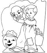 ghost holding happy halloween sign coloring free coloring