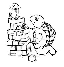 Franklin The Turtle Pile Up Wood Block Coloring Pages Batch Coloring Franklin Coloring Pages