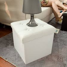 Cushioned Ottoman Buy Sobuy Faux Leather Storage Ottoman Folding Storage Bench With