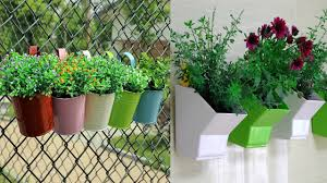 Hanging Vegetable Gardens by Metal Plant Flower Pot Hanging Vase Balcony Garden Youtube