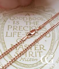 rose gold men necklace images 9ct rose gold 2mm curb chain necklace 18 20 22 men 39 s ladies ebay jpg