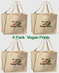 reusable vegan print shopping bags at ecofabrik