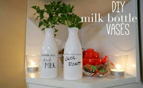 glass milk bottle vase racheerachh travels diy milk bottle vases
