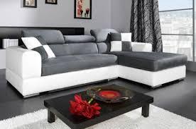 canap d angle blanc et gris photos canapé d angle cuir gris et blanc