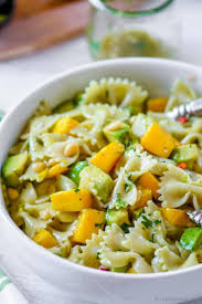 mango avocado pasta salad with cilantro lime dressing recipe
