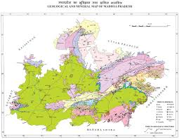 Map Of Central Massachusetts by Geology And Mineral Map Government Of Mp India