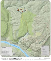Chattanooga Map Signal Mountain Trail Map Available Here On Chattanoogahomefinder Com