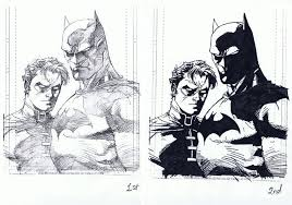 ink practice exercise jim lee u0027s batman and robin by kazuac on