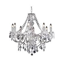 8 Light Pendant Chandelier Endon Clarence 308 8cl 8 Light Pendant Light In Clear Acrylic At