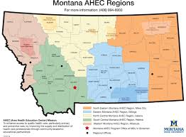 Map Of Montana by On The Road Montana Office Of Rural Health And Area Health