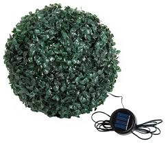 Outdoor Floor Lamps Topiary Solar Light Ball With 20 Led Lights White Contemporary