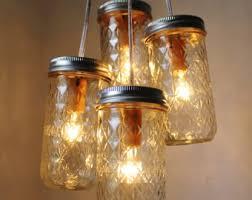 ocean sapphire mason jar chandelier mason jar light modern