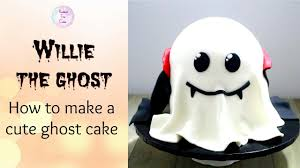 how to make a cute ghost cake halloween cakes tutorial youtube