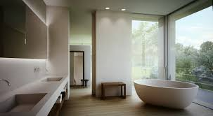 bathroom open plan master bathroom with modern furnishings and