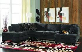 Double Chaise Sectional Charcoal Gray Fabric Contemporary Double Chaise Sectional Sofa