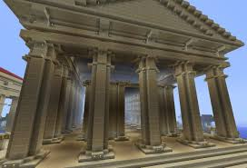 large greek temple minecraft project