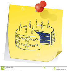 birthday reminder sticky note royalty free stock images image