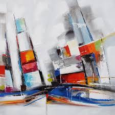 Tableau Abstrait Rouge Et Gris by Tableaux Peinture Sur Toile Tableau Peint Moderne Toile