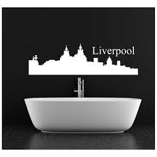 livingroom liverpool liverpool city skyline wall decal for living room decoration sticker