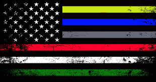 Subdued American Flag With Thin Blue Line Emergency Services Support Flag Decal U2013 American Responder Designs