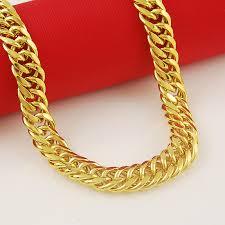 high grade domineering gold jewellery 50cm 10mm wide