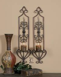 Sconces Decor Ergonomic Metal Wall Sconces For Candles Leyanna Mosaic Wall