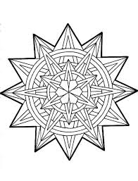 Star And Round Ornament For Christmas Tree Coloring Pages Tree Coloring Pages Ornaments