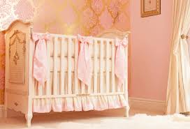 Pink And Gold Nursery Bedding Ivory U0026 Pink U0027s Nursery By Little Crown Interiors