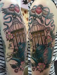 Flower And Bird Tattoo - best 25 bird cage tattoos ideas on pinterest cage tattoos free