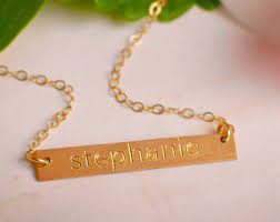 personalized engraved necklace engraved bars efy tal jewelry