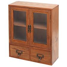 table top display cabinet amazon com mini tabletop wood display cabinet shadow box with