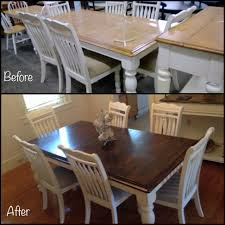 Dining Room Table Refinishing A Dining Table We Purchased At A Thrift Store Sanded Wish I Knew