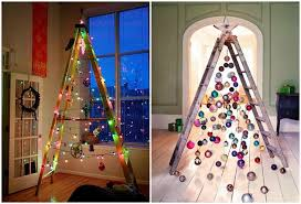 ladder christmas tree turn a ladder into a christmas tree pictures photos and images