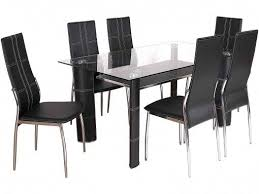 lombok oak with black glass inset 12m dining table morale home