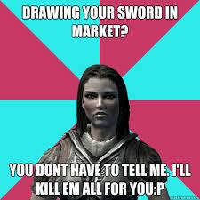 Funny Skyrim Memes - lydia skyrim meme memes quickmeme