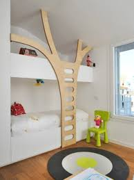 Teak Wood Modern Bed Designs Bedroom Playful Room Decor For Kids With Tree Modern Bunk Bed