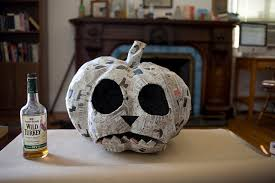 Paper Mache Pumpkin For The Love Of Paper Mache Time To Make Some Pumpkins A