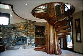 wood staircase timber and logs that will look amazing in your