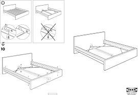 How To Assemble A Bed Frame Galant Desk Malm Bed Frame Fulldouble Assembly