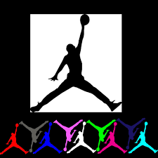 michael air jordan jumpman logo vinyl decal sticker for party