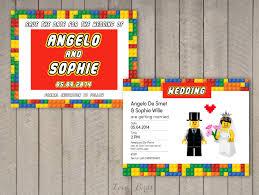 Date Invitation Card Lego Wedding Invitation Set Save The Date Invitation By